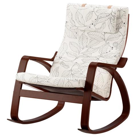 Кресло-качалка ПОЭНГ черный/белый артикуль № 791.812.72 в наличии. Онлайн сайт IKEA Республика Беларусь. Быстрая доставка и установка.