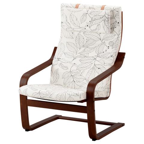 Кресло ПОЭНГ черный/белый артикуль № 191.812.32 в наличии. Интернет сайт IKEA Минск. Быстрая доставка и соборка.