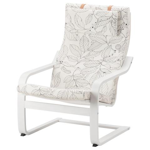 Кресло ПОЭНГ черный/белый артикуль № 291.812.36 в наличии. Online магазин IKEA РБ. Недорогая доставка и соборка.