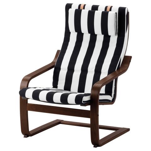Кресло ПОЭНГ черный/белый артикуль № 891.813.18 в наличии. Онлайн сайт IKEA Беларусь. Быстрая доставка и соборка.