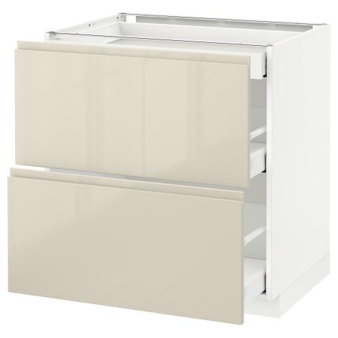 Напольный шкаф, 2 фасада, 3 ящика МЕТОД / МАКСИМЕРА белый артикуль № 991.681.75 в наличии. Онлайн магазин IKEA Беларусь. Быстрая доставка и установка.