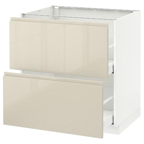 Напольный шкаф 2 форнтальных, 2 высоких ящик МЕТОД / МАКСИМЕРА белый артикуль № 691.680.25 в наличии. Онлайн каталог ИКЕА РБ. Быстрая доставка и установка.