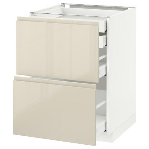 Напольный шкаф 2 фронтальные панели, 2 нижних, 1 средний, 1 высокий ящик МЕТОД / МАКСИМЕРА белый артикуль № 891.680.29 в наличии. Онлайн каталог IKEA Беларусь. Недорогая доставка и соборка.