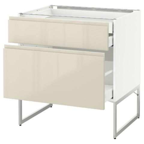 Напольный шкаф 2 фронтальных панели, 2 нижних,1 встроенный ящик МЕТОД / МАКСИМЕРА белый артикуль № 791.680.96 в наличии. Онлайн магазин IKEA РБ. Недорогая доставка и установка.
