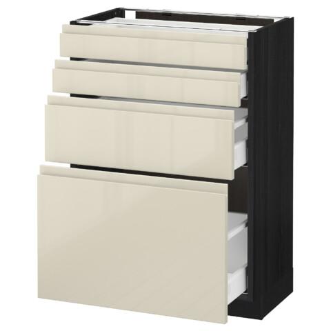 Напольный шкаф 4 фронтальных панели, 4 ящика МЕТОД / МАКСИМЕРА черный артикуль № 791.683.03 в наличии. Онлайн каталог IKEA РБ. Быстрая доставка и установка.
