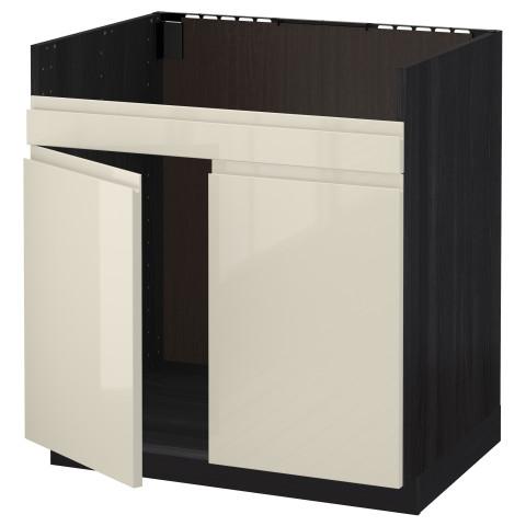 Напольный шкаф для двойной мойки ДУМШЁ МЕТОД черный артикуль № 891.429.25 в наличии. Онлайн магазин IKEA РБ. Быстрая доставка и установка.