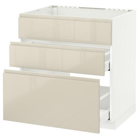 Напольный шкаф под мойку + 3 фронтальных панели, 2 ящика МЕТОД / МАКСИМЕРА белый артикуль № 291.681.50 в наличии. Интернет сайт IKEA Минск. Недорогая доставка и монтаж.
