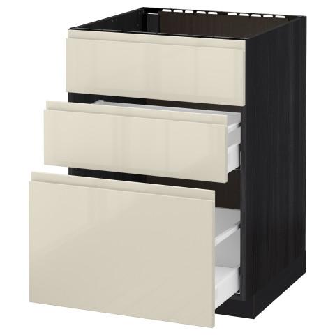 Напольный шкаф под мойку + 3 фронтальных панели, 2 ящика МЕТОД / МАКСИМЕРА черный артикуль № 891.681.47 в наличии. Онлайн магазин IKEA Республика Беларусь. Быстрая доставка и монтаж.