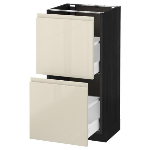 Напольный шкаф с 2 ящиками МЕТОД / МАКСИМЕРА черный артикуль № 491.682.72 в наличии. Интернет магазин IKEA Минск. Быстрая доставка и установка.