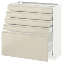 Напольный шкаф с 5 ящиками МЕТОД / МАКСИМЕРА белый артикуль № 391.682.96 в наличии. Онлайн магазин IKEA РБ. Недорогая доставка и установка.