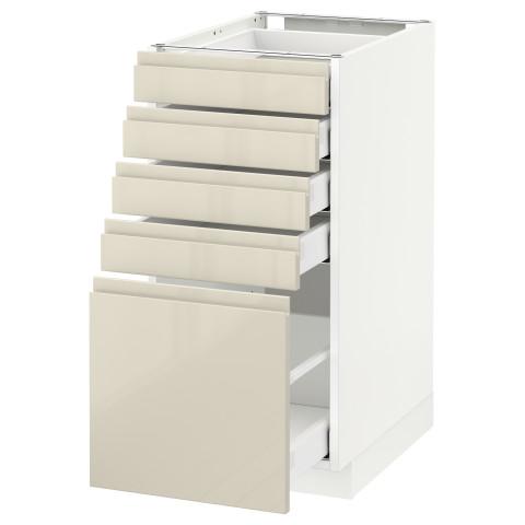 Напольный шкаф с 5 ящиками МЕТОД / МАКСИМЕРА белый артикуль № 691.682.33 в наличии. Интернет сайт ИКЕА РБ. Быстрая доставка и соборка.