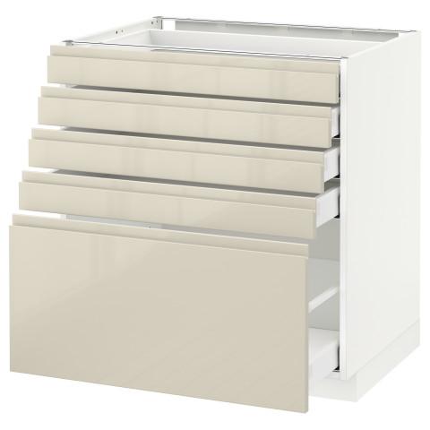 Напольный шкаф с 5 ящиками МЕТОД / МАКСИМЕРА белый артикуль № 791.682.37 в наличии. Онлайн каталог IKEA Минск. Быстрая доставка и монтаж.