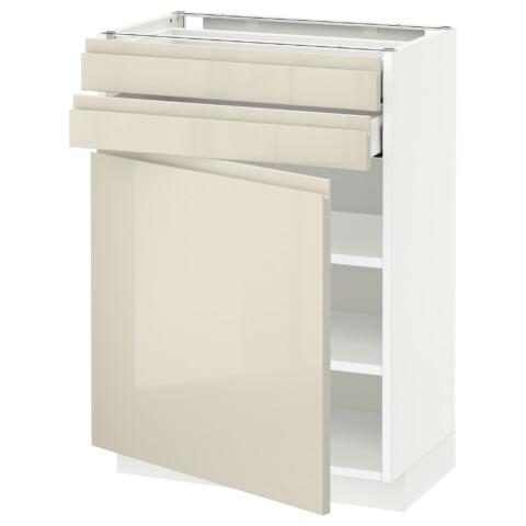 Напольный шкаф с дверцей, 2 ящиками МЕТОД / МАКСИМЕРА белый артикуль № 191.681.79 в наличии. Онлайн каталог IKEA РБ. Недорогая доставка и установка.