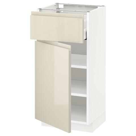 Напольный шкаф с ящиком, дверью МЕТОД / МАКСИМЕРА белый артикуль № 091.682.69 в наличии. Онлайн магазин ИКЕА РБ. Недорогая доставка и соборка.