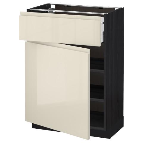 Напольный шкаф с ящиком, дверью МЕТОД / МАКСИМЕРА черный артикуль № 891.682.70 в наличии. Интернет магазин IKEA РБ. Недорогая доставка и соборка.