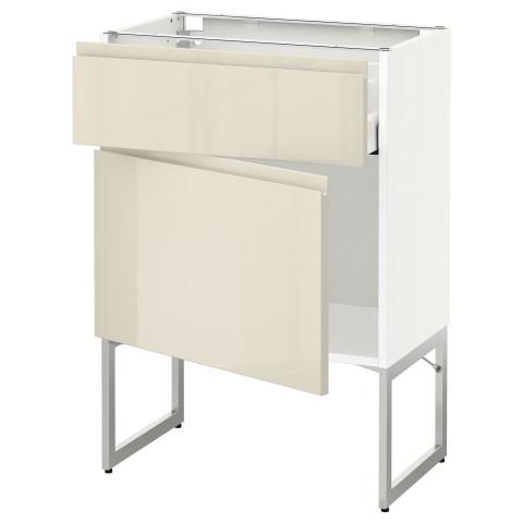 Напольный шкаф с ящиком, дверью МЕТОД / МАКСИМЕРА белый артикуль № 991.681.37 в наличии. Онлайн магазин IKEA РБ. Недорогая доставка и соборка.