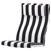Подушка-сиденье на кресло ПОЭНГ черный/белый артикуль № 303.466.46 в наличии. Интернет каталог IKEA Беларусь. Недорогая доставка и установка.