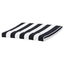 Подушка-сиденье на табурет для ног ПОЭНГ черный/белый артикуль № 503.466.69 в наличии. Online каталог IKEA РБ. Быстрая доставка и соборка.