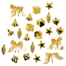 Подвесные украшения, 24 предмета ВИНТЕР 2016 золотой артикуль № 103.256.02 в наличии. Интернет магазин ИКЕА Минск. Быстрая доставка и установка.