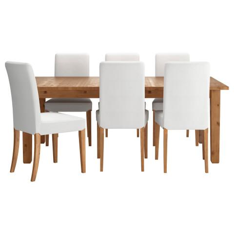 Стол и 6 стульев СТУРНЭС / ХЕНРИКСДАЛЬ белый артикуль № 291.976.85 в наличии. Online сайт IKEA Беларусь. Быстрая доставка и монтаж.