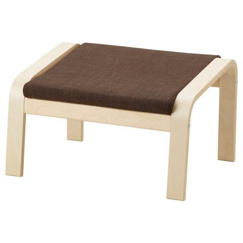 Табурет для ног ПОЭНГ коричневый артикуль № 592.113.12 в наличии. Интернет магазин IKEA Республика Беларусь. Недорогая доставка и соборка.
