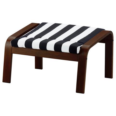 Табурет для ног ПОЭНГ черный/белый артикуль № 691.813.38 в наличии. Интернет магазин IKEA РБ. Быстрая доставка и соборка.