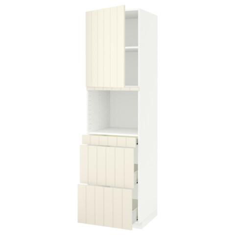 Высокий шкаф для СВЧ/дверца, 3 ящика МЕТОД / ФОРВАРА белый артикуль № 891.709.37 в наличии. Интернет каталог ИКЕА РБ. Недорогая доставка и установка.