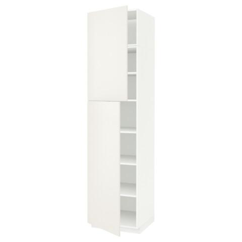 Высокий шкаф с полками, 2 дверцы МЕТОД белый артикуль № 091.642.14 в наличии. Онлайн магазин IKEA РБ. Быстрая доставка и установка.
