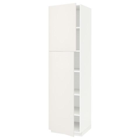 Высокий шкаф с полками, 2 дверцы МЕТОД белый артикуль № 391.624.78 в наличии. Online сайт IKEA Беларусь. Быстрая доставка и монтаж.