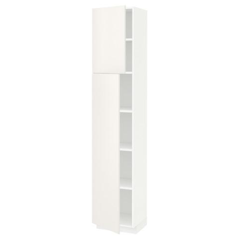 Высокий шкаф с полками, 2 дверцы МЕТОД белый артикуль № 591.637.64 в наличии. Интернет магазин ИКЕА РБ. Недорогая доставка и монтаж.