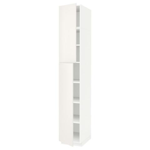 Высокий шкаф с полками, 2 дверцы МЕТОД белый артикуль № 891.641.49 в наличии. Интернет сайт IKEA Беларусь. Недорогая доставка и соборка.