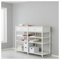 2 секции ЭЛВАРЛИ белый артикуль № 091.881.68 в наличии. Онлайн каталог IKEA Минск. Недорогая доставка и установка.