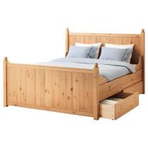 Каркас кровати с 4 ящиками ГУРДАЛЬ светло-коричневый артикуль № 990.273.31 в наличии. Online магазин IKEA РБ. Недорогая доставка и монтаж.