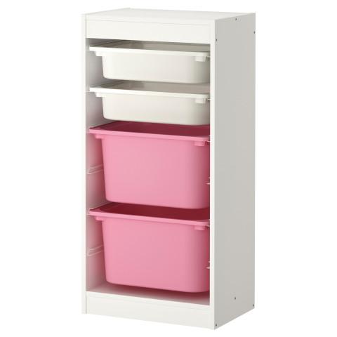 Комбинация для хранения с контейнерами ТРУФАСТ белый артикуль № 299.216.39 в наличии. Онлайн каталог IKEA РБ. Недорогая доставка и монтаж.