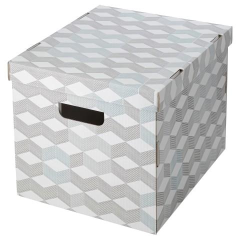 Коробка с крышкой СМЕКА белый артикуль № 103.330.70 в наличии. Online магазин IKEA Беларусь. Быстрая доставка и соборка.