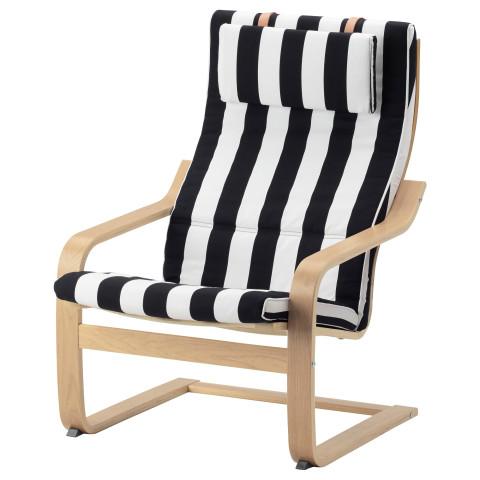 Кресло ПОЭНГ черный/белый артикуль № 891.813.23 в наличии. Online сайт IKEA РБ. Недорогая доставка и монтаж.