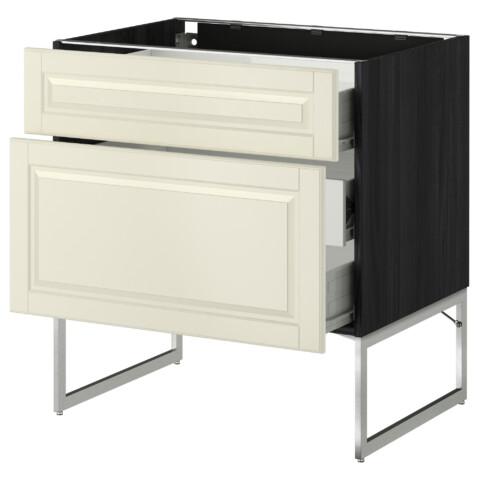Напольный шкаф 2 фронтальные панели, 3 средняя ящик МЕТОД / ФОРВАРА черный артикуль № 790.139.95 в наличии. Online сайт IKEA РБ. Быстрая доставка и установка.