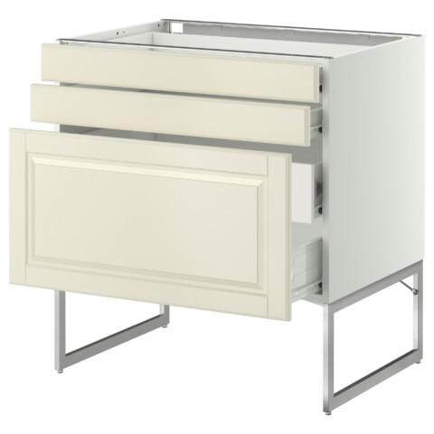 Напольный шкаф 3 фронтальных панели, 2 нижних, 2 средних ящика МЕТОД / ФОРВАРА белый артикуль № 990.137.77 в наличии. Online сайт IKEA РБ. Быстрая доставка и установка.