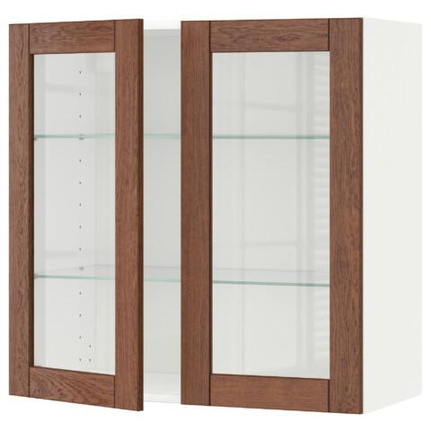 Навесной шкаф с полками, 2 стекло дверцы МЕТОД белый артикуль № 190.561.10 в наличии. Онлайн каталог IKEA Беларусь. Недорогая доставка и установка.