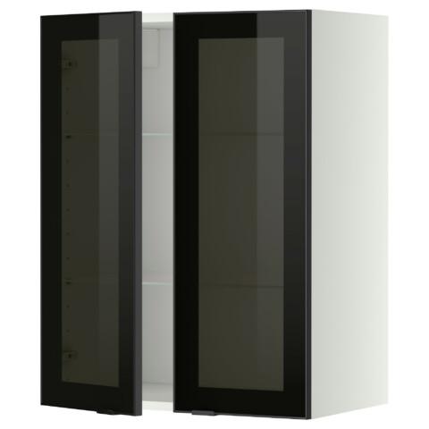 Навесной шкаф с полками, 2 стекло дверцы МЕТОД белый артикуль № 599.198.90 в наличии. Online магазин IKEA Беларусь. Недорогая доставка и монтаж.