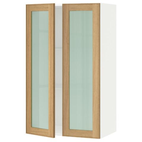 Навесной шкаф с полками, 2 стекло дверцы МЕТОД белый артикуль № 890.532.45 в наличии. Интернет сайт IKEA РБ. Быстрая доставка и установка.
