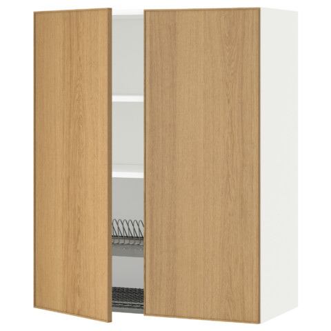 Навесной шкаф с посудной сушилкой, 2 дверцы МЕТОД белый артикуль № 290.532.72 в наличии. Онлайн магазин IKEA Республика Беларусь. Быстрая доставка и установка.