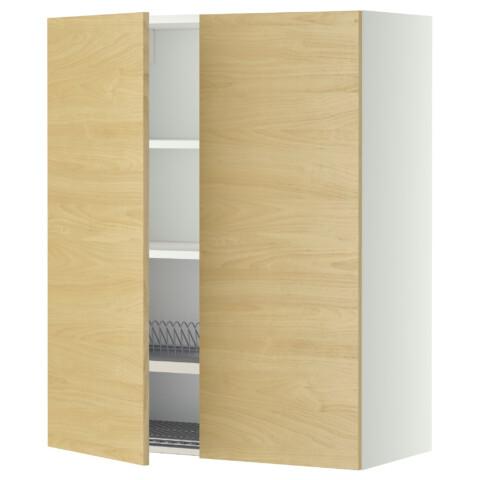 Навесной шкаф с посудной сушилкой, 2 дверцы МЕТОД белый артикуль № 699.231.89 в наличии. Интернет магазин IKEA Минск. Быстрая доставка и установка.