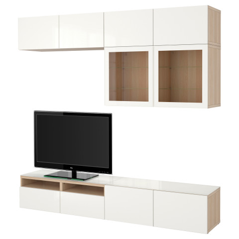 Шкаф для ТВ, комбинированный, стекляные дверцы БЕСТО артикуль № 090.986.91 в наличии. Онлайн сайт IKEA Беларусь. Быстрая доставка и соборка.