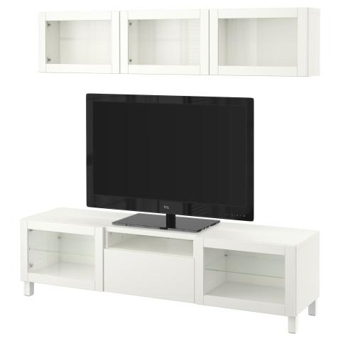 Шкаф для ТВ, комбинированный, стекляные дверцы БЕСТО артикуль № 490.728.92 в наличии. Интернет сайт IKEA Республика Беларусь. Быстрая доставка и установка.