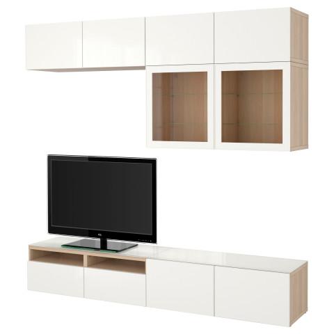 Шкаф для ТВ, комбинированный, стекляные дверцы БЕСТО артикуль № 690.987.54 в наличии. Online сайт IKEA Беларусь. Недорогая доставка и соборка.
