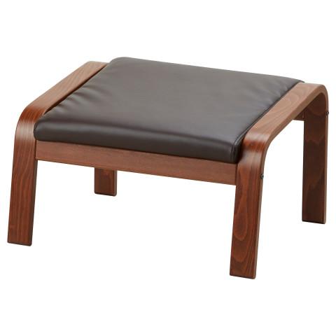 Табурет для ног ПОЭНГ темно-коричневый артикуль № 692.038.11 в наличии. Интернет сайт IKEA Республика Беларусь. Быстрая доставка и установка.