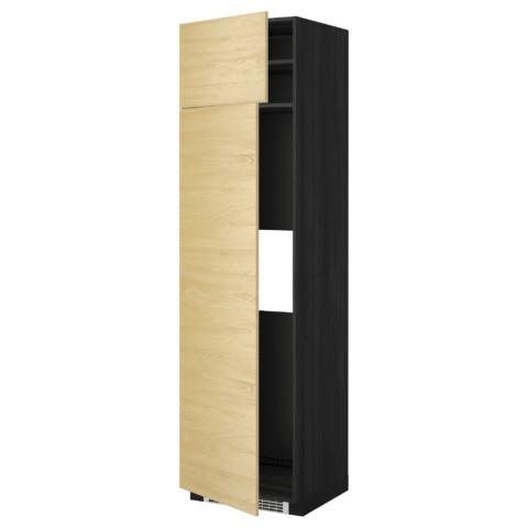 Высокий шкаф для холодильника или морозильник МЕТОД черный артикуль № 299.250.29 в наличии. Online каталог ИКЕА РБ. Недорогая доставка и установка.