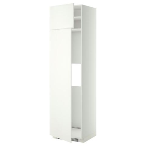 Высокий шкаф для холодильника или морозильник МЕТОД белый артикуль № 299.253.12 в наличии. Интернет магазин ИКЕА Минск. Быстрая доставка и соборка.