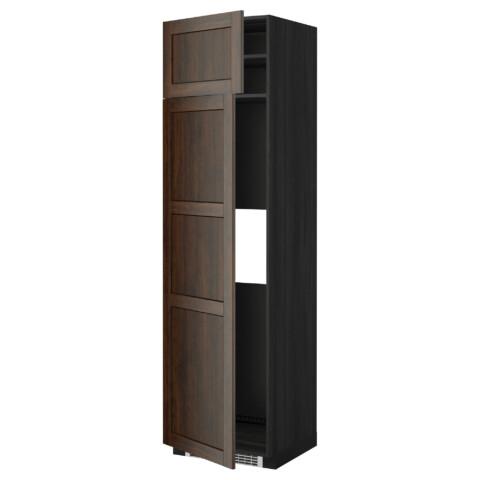 Высокий шкаф для холодильника или морозильник МЕТОД черный артикуль № 799.260.12 в наличии. Онлайн магазин IKEA РБ. Быстрая доставка и установка.